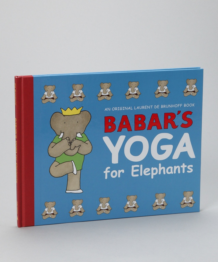 Yoga with Babar. Oh God. Me as a young kid would have lost my freakin' mind over this.