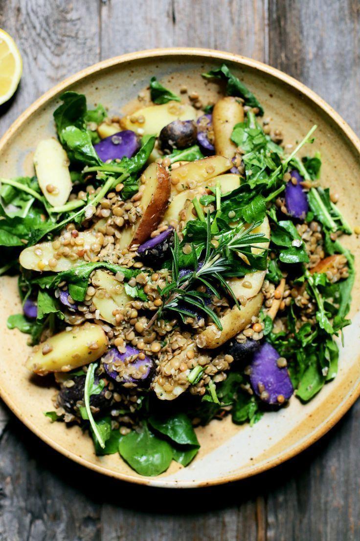 Potato, Arugula, and Lentil Salad with Rosemary