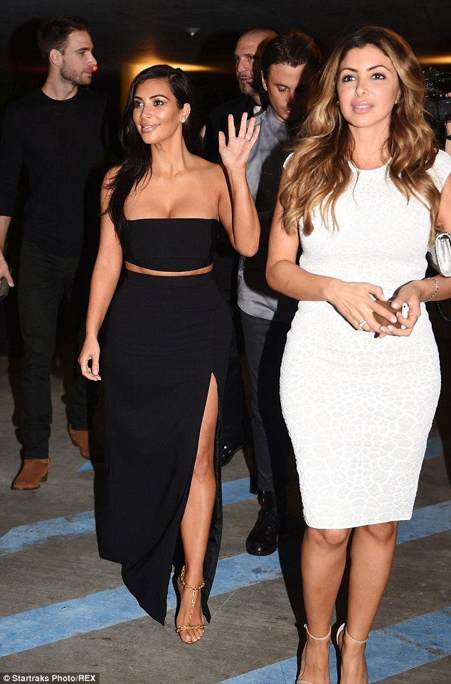 Good pals: Kim reunited with former Real Housewives of Miami star Larsa Pippen