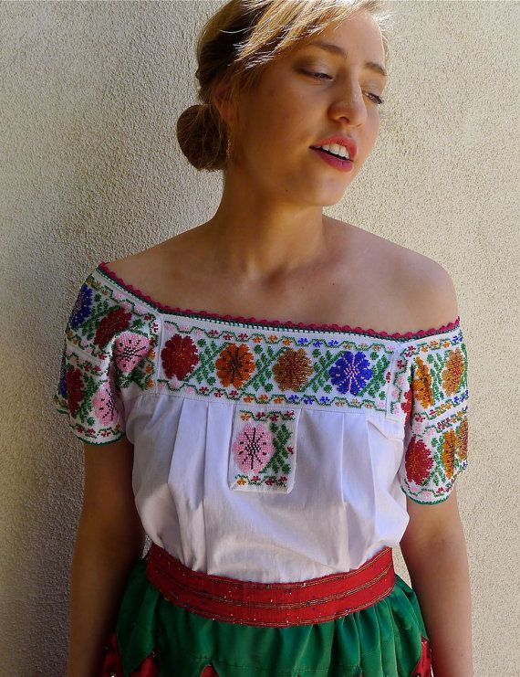 Collectors Mexican China Poblana outfit by LivingTextiles on Etsy
