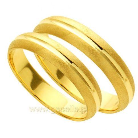 Subtelny komplet obrączek ślubnych z 14-karatowego złota z kolekcji Forever - Obrączki ślubne - GESELLE Jubiler