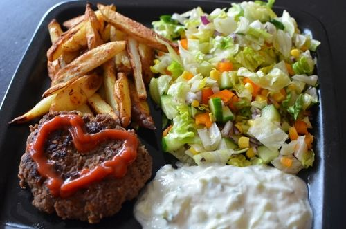 Gresk burger (Bakekona)