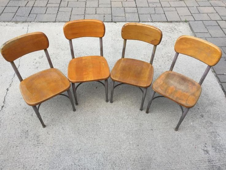 Heywood Wakefield small student chair lot of 4 13.5 x 12.5 seat  | eBay