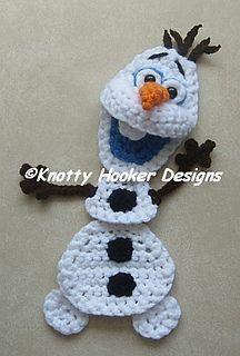 Snowman Applique pattern by Knotty Hooker Designs