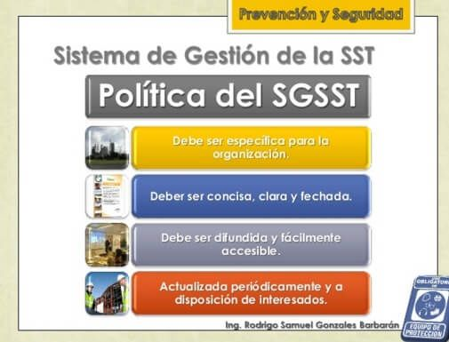 SGSST | Para redactar la política.