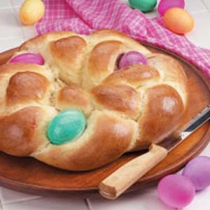 Easter Egg Bread...this looks like a family tradition!