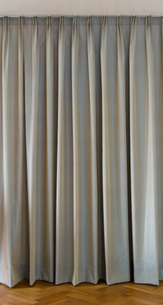 Triple Pleat heading style for curtains.