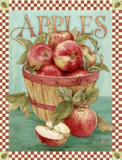 Vintage apples printable