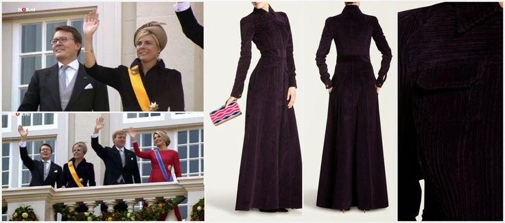 The Royal Order of Sartorial Splendor: Prinsjesdag, September 16, 2014-Princess Laurentien in Talbot Runhof corduroy dress
