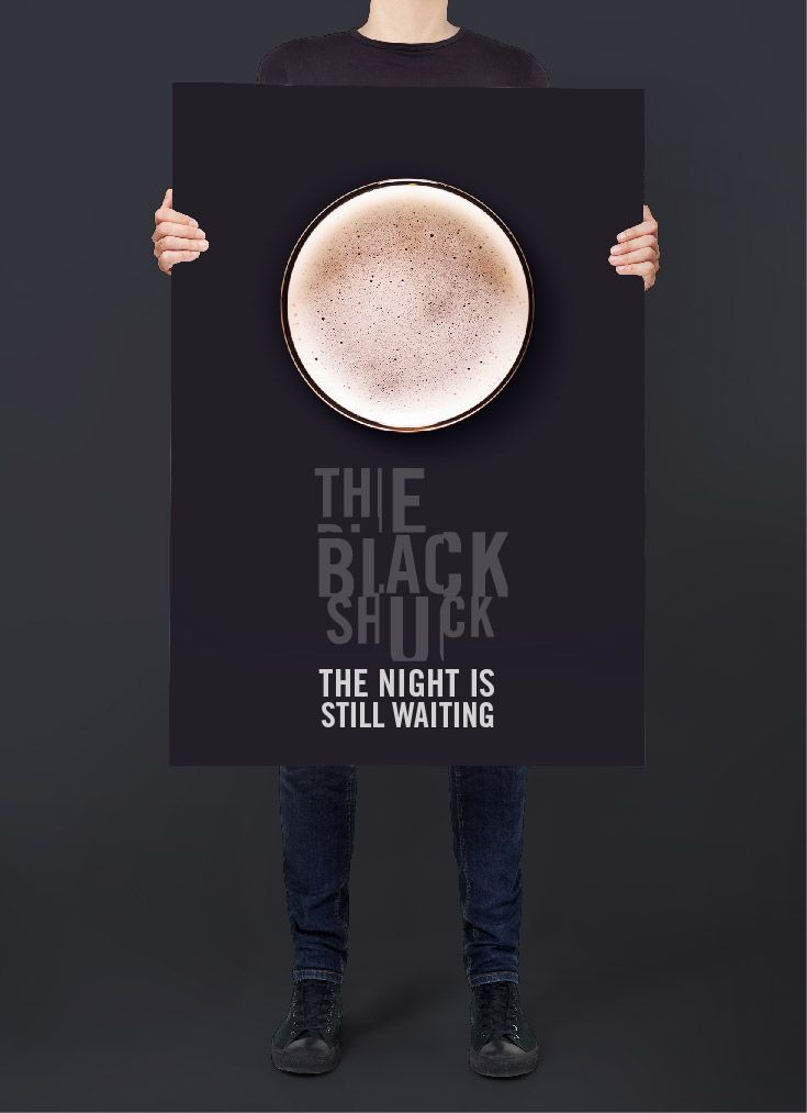 The Black Shuck. Poster. Moon. Craft Beer. Advertising.  Designed by White is Black.