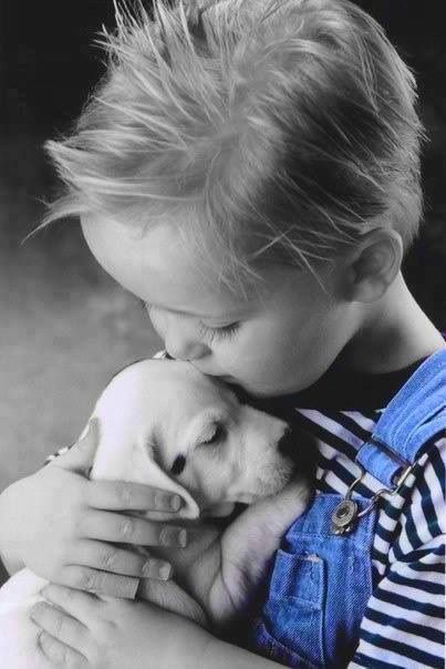 Boy with his puppy!