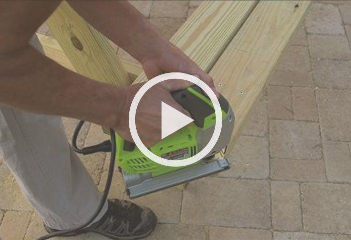 Cut attach braces - Build Picnic Table Cooler