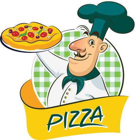 cocinero de pizza, imagen vectorial