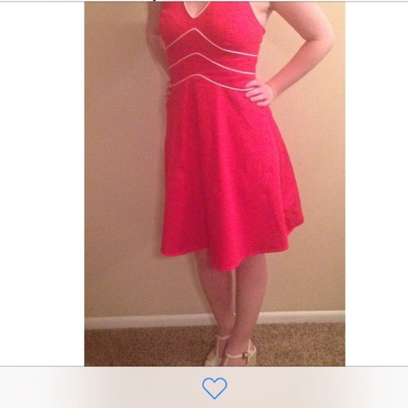 """Kim Rogers- Red Nautical Dress Has been worn a couple times. Very flattering fit! This is a 4 petite but I am 5'3"""" and it goes to my knees. Kim Rogers Dresses"""