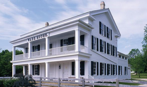"""Wade House - Stagecoach Inn - 7 miles west of Plymouth, just off WI-23 in Greenbush - In 1844 Sylvanus & Betsey Wade & their family settled in what was to become Greenbush. At that time Wisconsin was a frontier territory. By 1848 Wade's """"Half Way House"""" was a regular stop for the stagecoach lines operating between Sheboygan & Fond du Lac. The inn was the scene of cotillions, business meetings, political caucuses & circuit court sessions. Fascinating museum!"""
