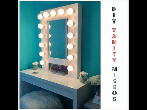 DIY Vanity Mirror With Lights