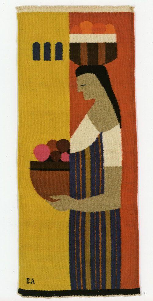 Evelyn Ackerman I think she's carrying yarn.