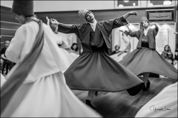 """""""The fundamental condition of our existence is to revolve."""" The dance of Dervishes represents a spiritual journey. One of the beauties of this seven-centuries-old ritual is the way that it unifies the three fundamental components of man's nature - mind, emotion, and spirit."""