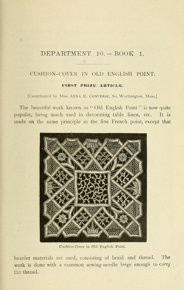 """Old English Point lace.  Description sounds similar to how Romanian Point Lace is made: """"The braid used is 1/3 inch wide, with an open-work edge on each side; it is worked with flax thread no. 30.  The design is first traced on a foundation, then the braid is basted upon this.  The centre and open spaces are then filled with various stitches.  The work is really wrong side out while in progress, so it will not show its true beauty until removed from the design."""""""