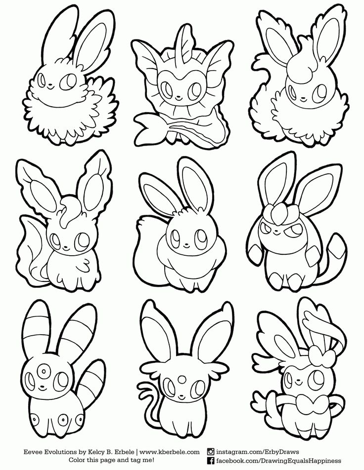 Pokemon Coloring Pages Eevee Evolutions Sylveon Through The Thousands Of Images On Net About Eev