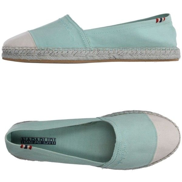 Napapijri Espadrilles (2.415 RUB) ❤ liked on Polyvore featuring shoes, sandals, light green, espadrille sandals, espadrille shoes, flat espadrille sandals, round toe flat shoes and flat footwear