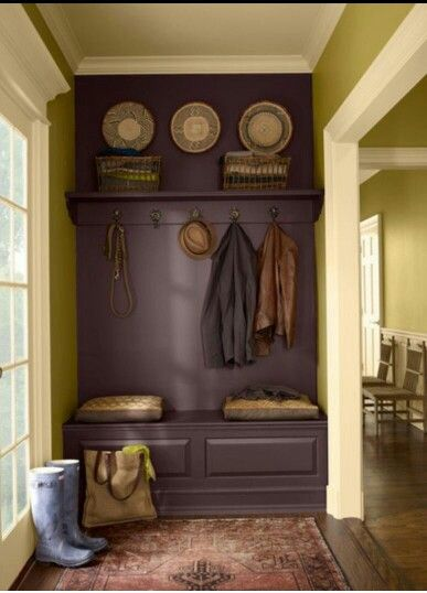 small mud room idea Like this purple for our mud room