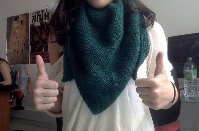 Le tuto tricot des débutantes : vive le châle !