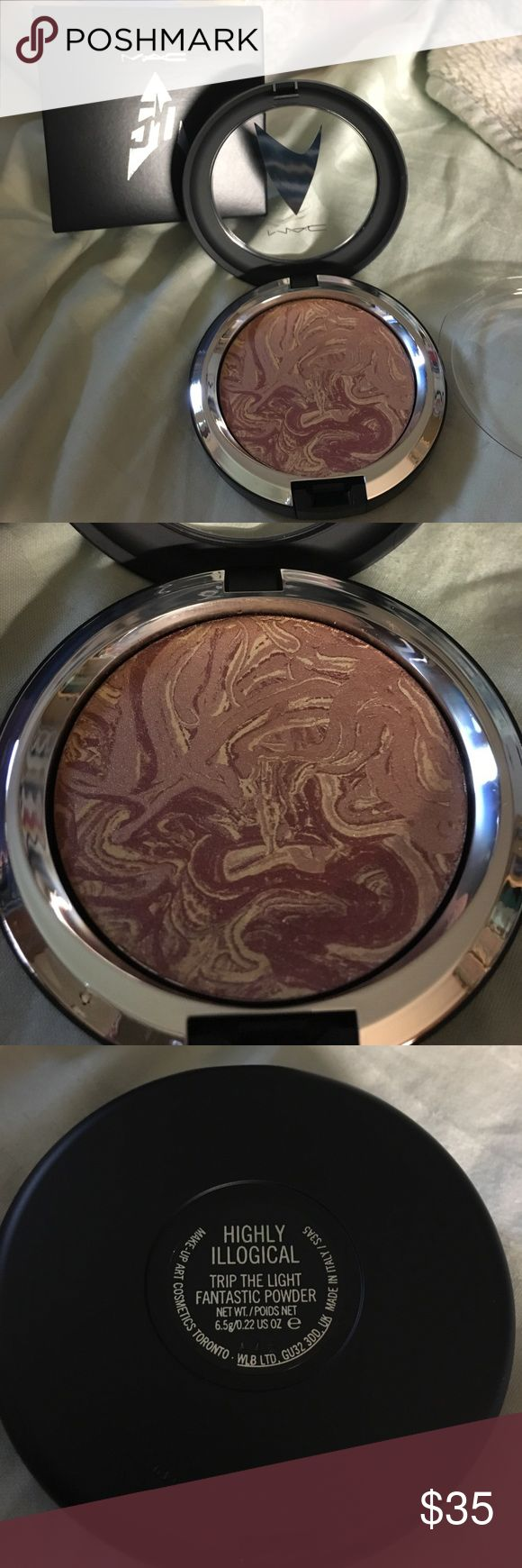 NIB MAC x StarTrek Trip The Light Fantastic Powder NIB MAC x StarTrek Trip The Light Fantastic Powder in Highly Illogical. Limited Edition collaboration, beautiful lustrous face Powder. Unused and never swatched. Macys label partially removed to prevent return. MAC Cosmetics Makeup Face Powder