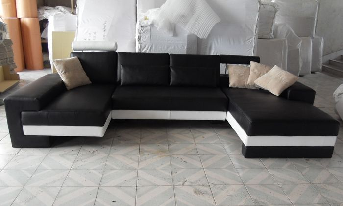 1899.00$  Buy here - http://alii67.worldwells.pw/go.php?t=1088985151 - Sofa Free Shipping 2015 New Modern Design Large Size Sofa U Shaped Couches Real Leather Corner Sofa Home Furniture  LC9102 1899.00$
