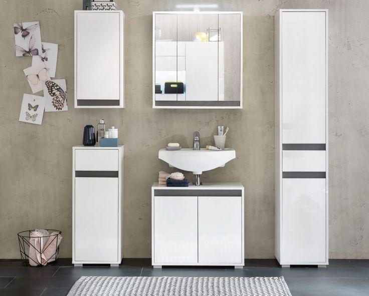 Die besten 25+ Badezimmer 5 tlg Ideen auf Pinterest | Badideen ... | {Badmöbel weiss modern 91}