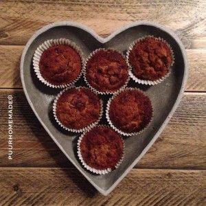 Amandel-hazelnoot-frambozen-muffins(12 stuks)  100gr amandelmeel 100gr hazelnootmeel 50 gr sukrin gold 25 gr chiazzaad 1 theel wijnsteenbak...