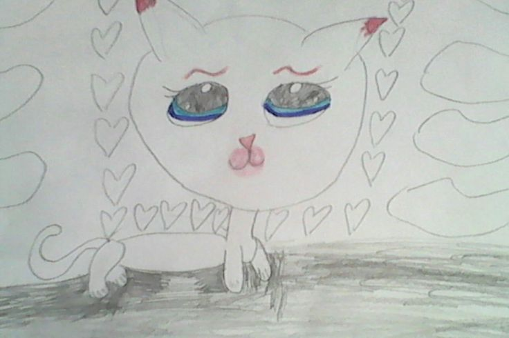 Я люблю кошек !!! Я люблю рисовать !!!