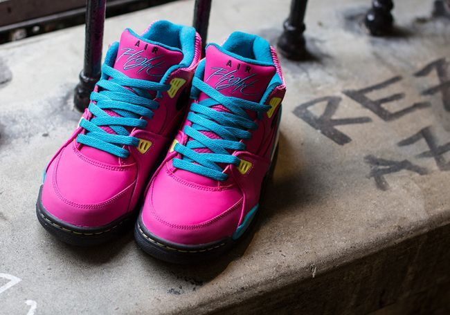 Trendy Ideas For Womens Sneakers  : Nike Air Flight 89 GS   Fusion Pink Neo Turquoise & Electric Yellow