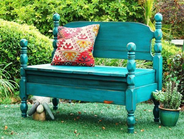 bed frame garden bench 2