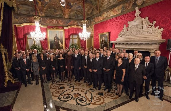 Prince Albert II and Princess Charlene Presents Orders