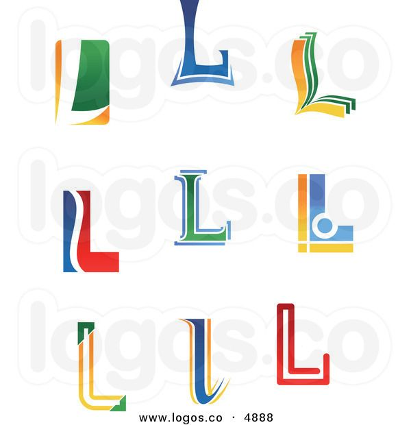 Royalty Free Vector of Colorful Letter L Logos