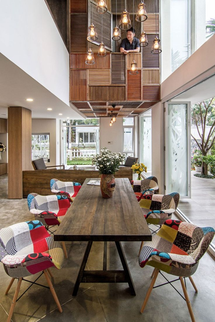 epv by ahl architects associates dining roomkitchen - Louvered Dining Room Decor