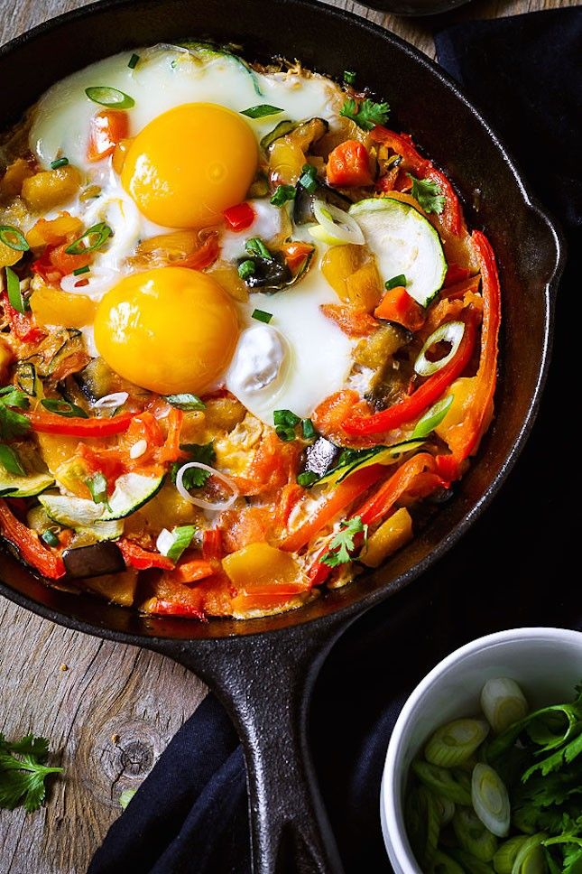 Breakfast Skillet With Diced Rutabaga:17 One-Pot Meals You Can Make in Your Cast-Iron Skillet via Brit + Co