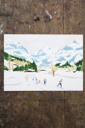 """Foot of the mountain"" Masunouchiasako post card"
