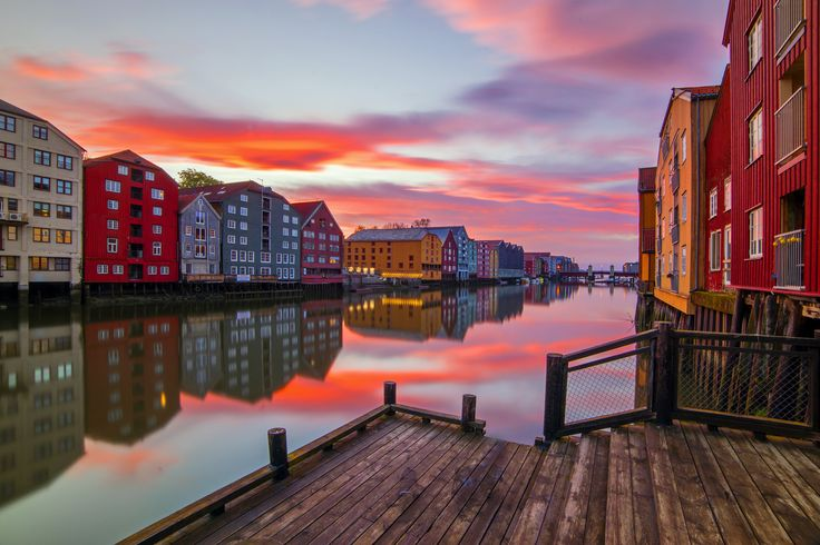 Sunset in Trondheim Norway by Aziz Nasuti on 500px