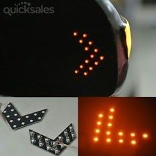 2PCS YELLOW 14-SMD LED Arrow Panels For Car Side Mirror Turn Signal Indicator Light a pair  by mrgadjet - $13.99