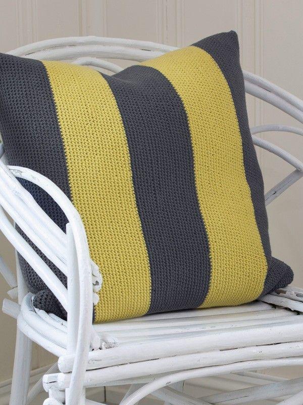 """Lounge"" stripepute | crocheted pillow | crocheted interior | crocheted stripes | crochet pattern"
