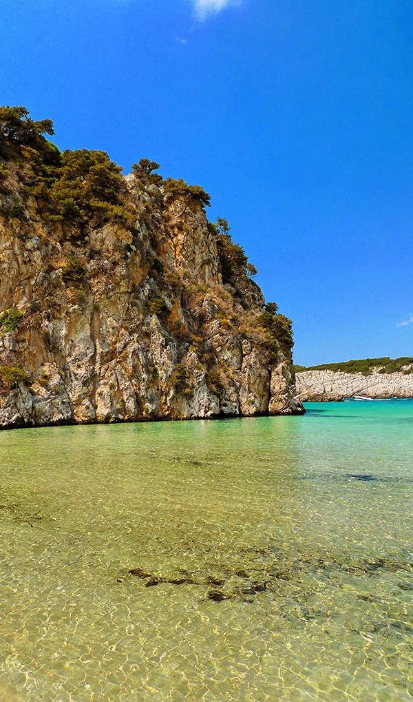 Coast of Voidokilia Beach, Messinia Greece