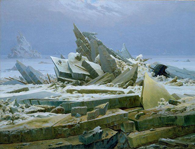 フリードリヒ作品「氷の海」