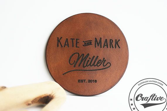 Wedding Gift for Couple,Personalized Wedding Gift,Wedding Favors,State to State,Leather Coasters Set,Leather Anniversary gift for him  These personalized leather coasters a...