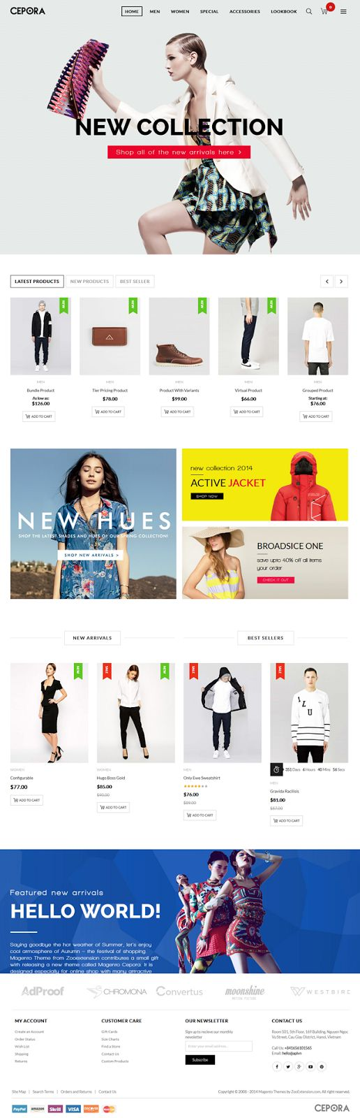 Best Fashion Store Responsive #Magento Theme #website #design #eCommerce