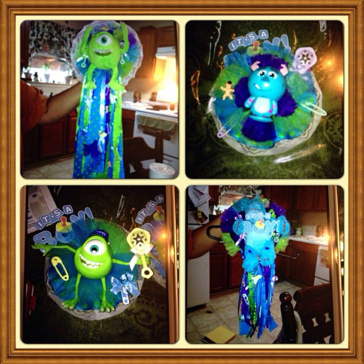 Monsters Inc Baby Shower Corsage .. I Love It!