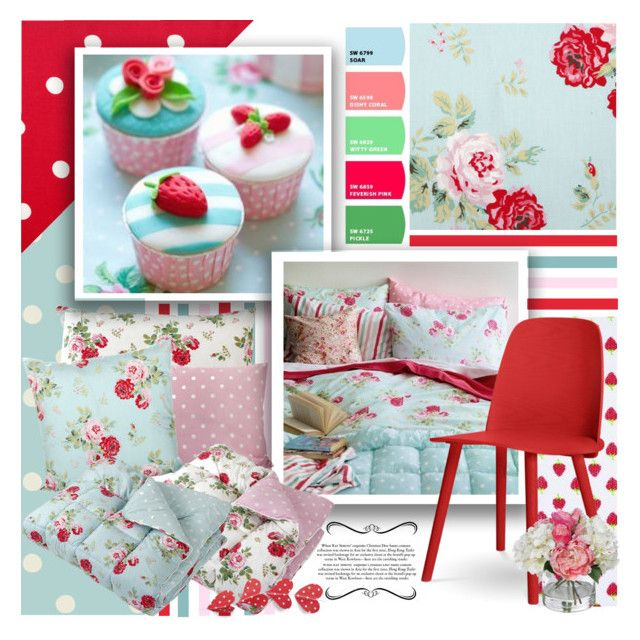 Cath kidston bedroom by lilith1521 liked on polyvore for Cath kidston bedroom ideas