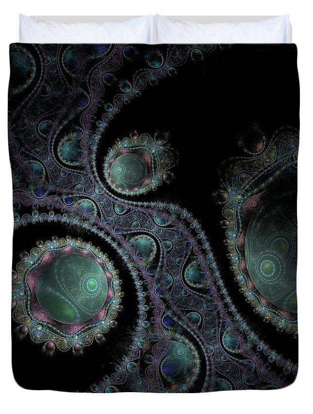 Fractal Duvet Cover featuring the digital art Somewhere In The Universe by Elena Ivanova IvEA  #ElenaIvanovaIvEAFineArtDesign #ForHome #DuvetCovers #Gift