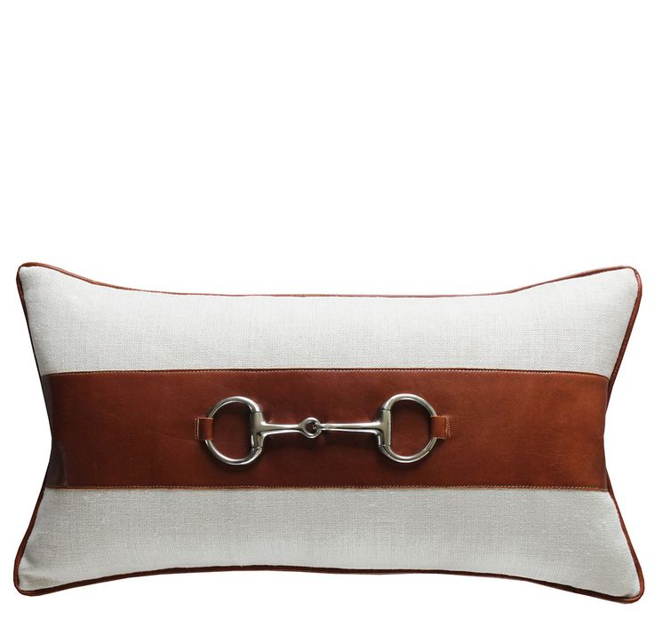 Snaffle Natural Linen Cushion